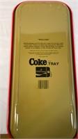 Metal Enjoy Coke Sign, Glasses & Tray