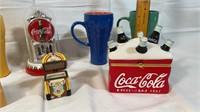Collection of Coca-Cola decorative items