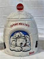 "Coca-Cola ""Serve Ice Cold"" 2005 cookie jar"