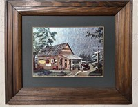 2 - Framed Coca-Cola country store pictures