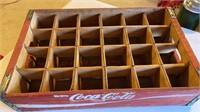 """Enjoy Coca-Cola"" wooden bottle carrier"