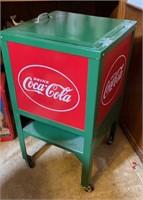 Metal Coca-Cola cooler