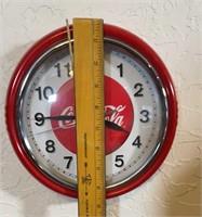 2 Coca-Cola clocks, 1 Coca Cola thermometer