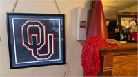 OU back-lit wall hanging and