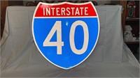 Interstate 40 metal sign