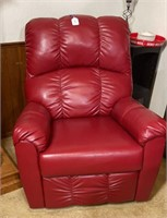 Red rocking recliner