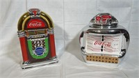 2 Coca-Cola jukebox cookie jars