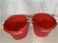 2 Coca Cola tubs and posters