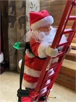 Electric Santa climbing ladder