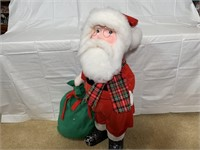 Santa and Mrs. Claus figures, 3 ft. tall