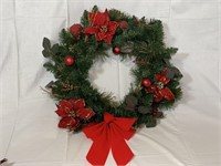 """22"""" Evergreen wreath and swag"""