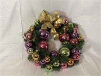 "20"" Christmas wreath w/ pastel ornaments"