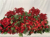Asst. Red Berry & Poinsettia swags & stems