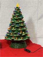 Retro ceramic Christmas trees w/ lights