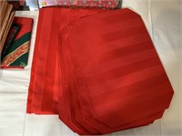 Holiday tablecloths, placemats, tree skirt,