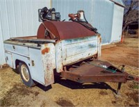 80''X73''Pickup utility bed on trailer,