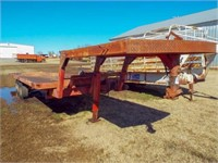 28'X8' Flatbed gooseneck trailer with winch