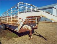 20'x6' Gooseneck stock trailer,