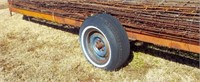 20' Frame Trailer w/ hitch pin  NO CONTENTS!!