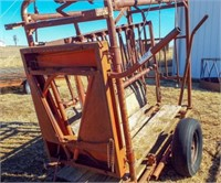 8' Squeeze Chute w/ wood sides