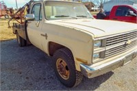 1983 Chevy K20 Flatbed Dually w/ spray rig mounted