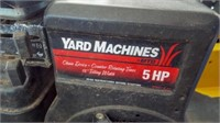 Yard Machine Rotating rear tiller, 5 hp