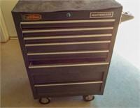 Masterhand tool box on wheels. 8 drawers