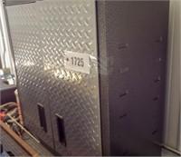 Gladiator metal tool cabinet with doors.