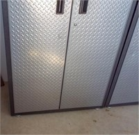 Gladiator metal tool cabinet with doors.