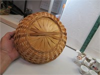 Vintage Basket with Porcelain S&P and more