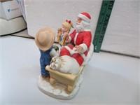 """Denim Days Santa Claus 5&1/2"""" x 5&1/4"""""""