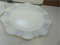 3 Vintage Depression Glass Monax Dinner Plates