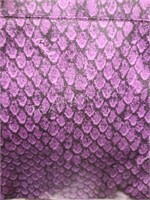 Coach Purple Snake Print Cross Body