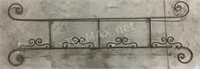 (1)  Wrought Iron And (2) Metal Wall Decor