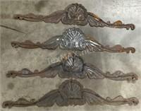 (4) Aluminum Wall Decor