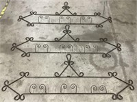 (3) Decorative Wrought Iron Pieces