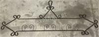 (2) Decorative Wrought Iron Pieces