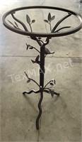 Metal Decorative Floral Side Table