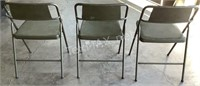 (3) Vintage Folding Chairs