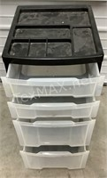 Plastic Organizer W/4 Drawers