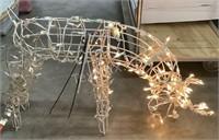 Feeding Pre-lit Reindeer Display