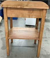 Wood Side Table W/ Drawer