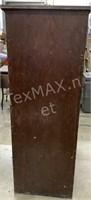 Antique Wood (4) Drawer File Cabinet