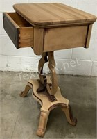 Antique Solid American Cherry Side Table
