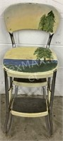 Antique Metal Step Chair