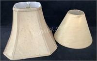 (2) Beige Lamp Shades