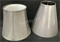(2) Grey Lampshades