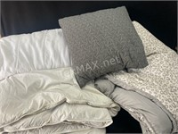 Queen Size Mattress Protector, Comforter And