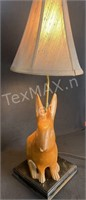 Hand Carved Bunny Lamp