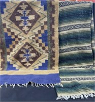 Rug And Small Mexican Blanket